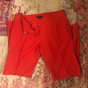 Ann Taylor bright red/orange dress pants